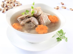 Pork ribs soup with beans