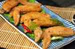 Chicken wings fry with fish sauce