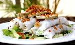 The rolled rice pancake called Banh cuon