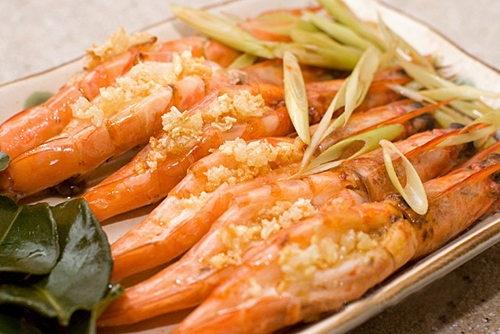 shrimp steam with lemon grass